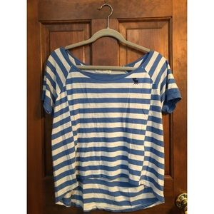 Abercrombie & Fitch striped boxy top